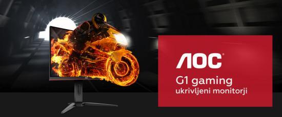 Novi AOC G1 ukrivljeni monitorji