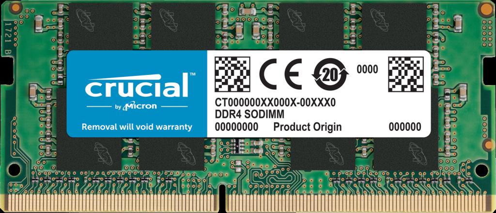 Crucial 16GB DDR4-2666 SODIMM PC4-21300 CL19, 1.2V