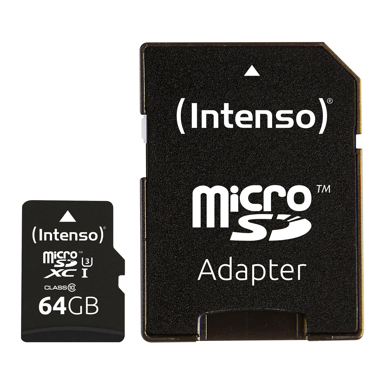 Intenso 64GB microSDXC UHS-I Class 10 Pro 90MB/s spominska kartica