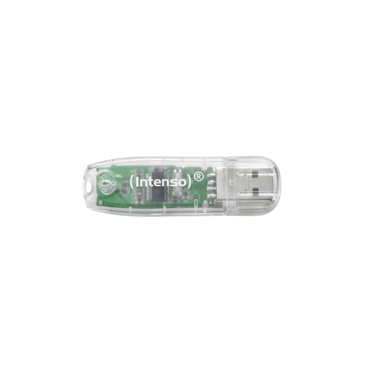 Intenso 32GB Rainbow Line USB 2.0 spominski ključek - Prozoren