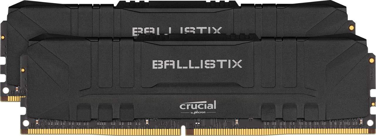 Crucial Ballistix Black 32GB Kit (2x16GB) DDR4-3200 UDIMM PC4-25600 CL16, 1.35V