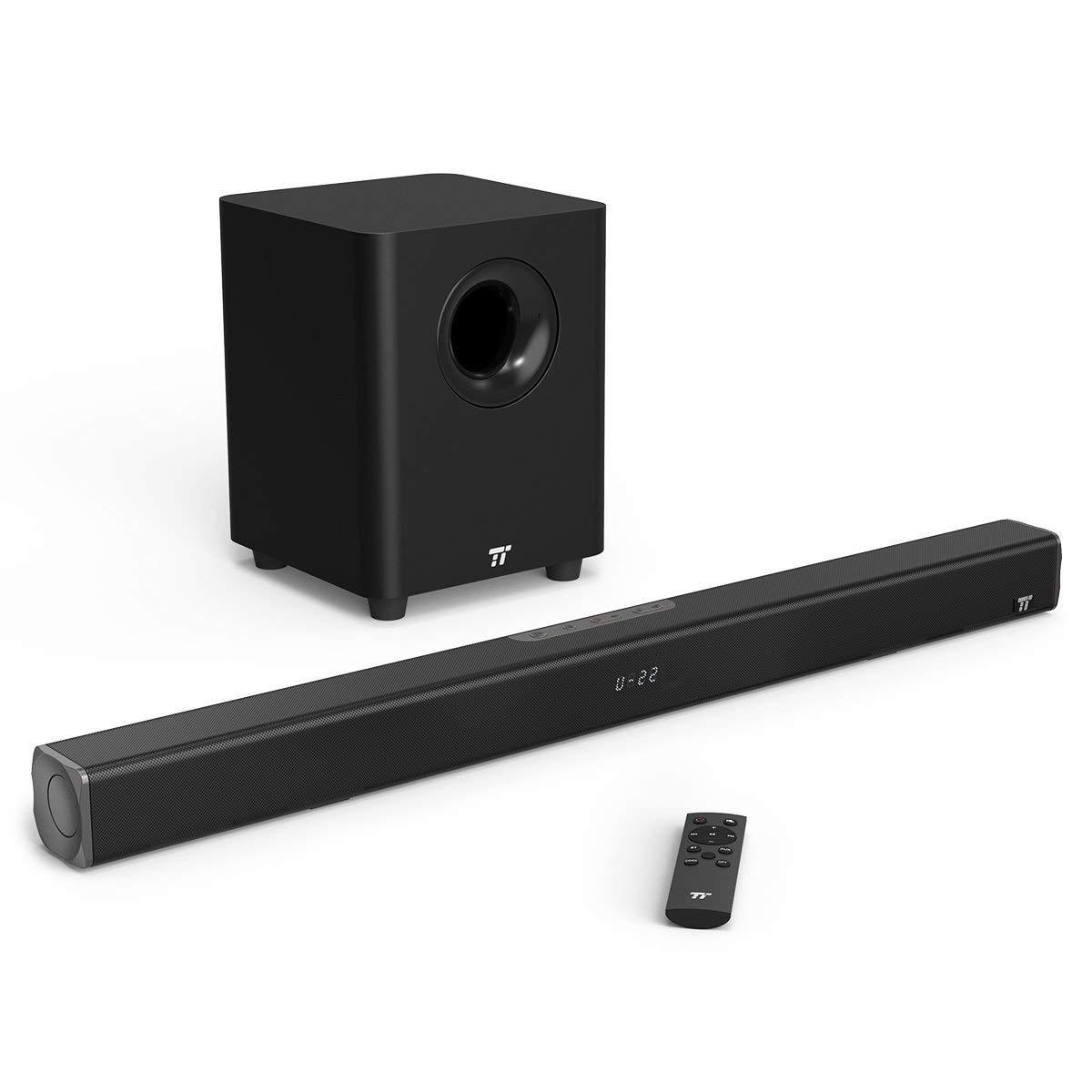 TaoTronics TV Soundbar 2.1 z brezžičnim nizkotoncem 120W črn TT-SK20