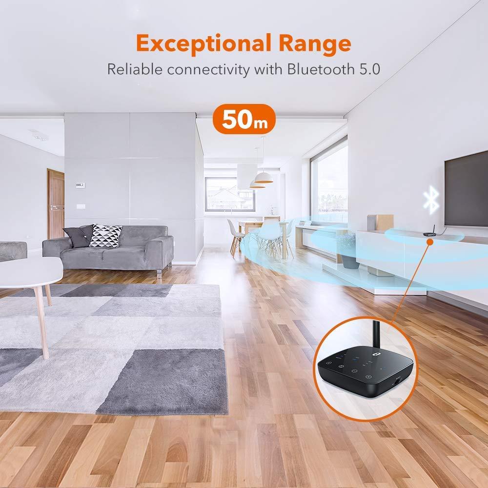 TaoTronics Bluetooth 5.0 digitalni glasbeni sprejemnik/oddajnik TT-BA014