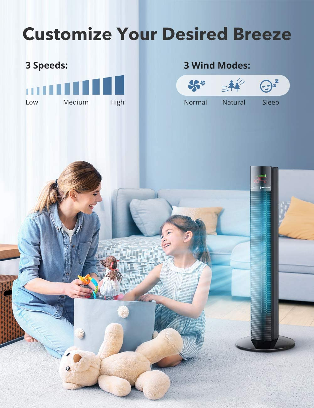 TaoTronics TT-TF002 prenosni ventilator