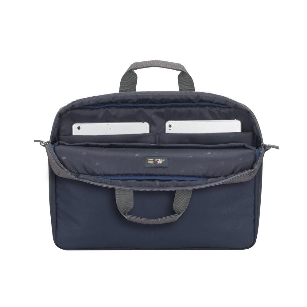 RivaCase sivo/modra torba za prenosnike 17.3