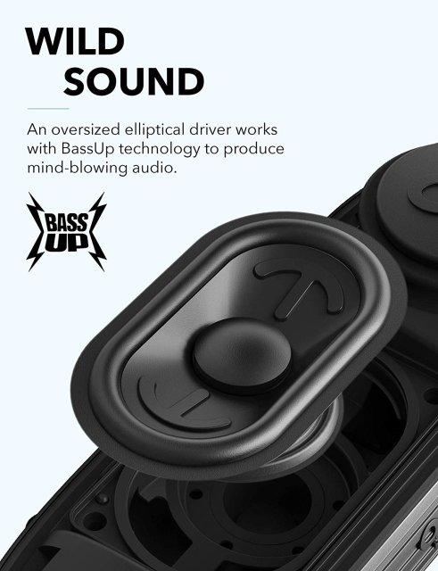 Anker SoundCore Icon+ Bluetooth 360° prenosni vodoodporen črn zvočnik 20W