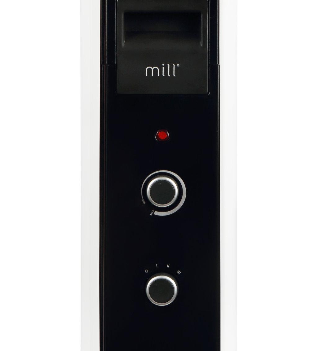MILL oljni radiator 1000W bel jeklo AB-H1000MEC