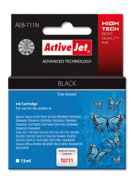 ActiveJet črno črnilo Epson T0711