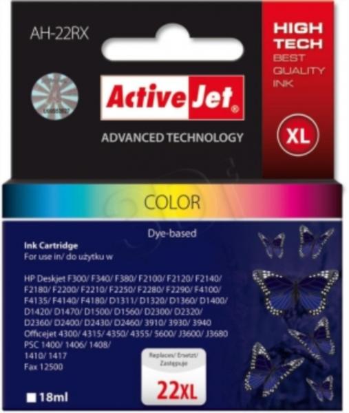 ActiveJet komplet barvnih črnil HP C9352A 22XL