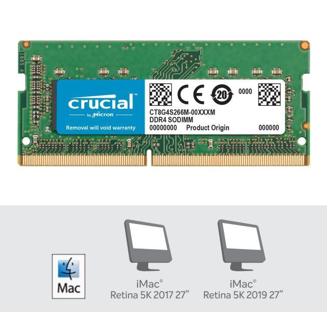 Crucial 8GB DDR4-2400 SODIMM PC4-19200 CL17, 1.2V za Mac