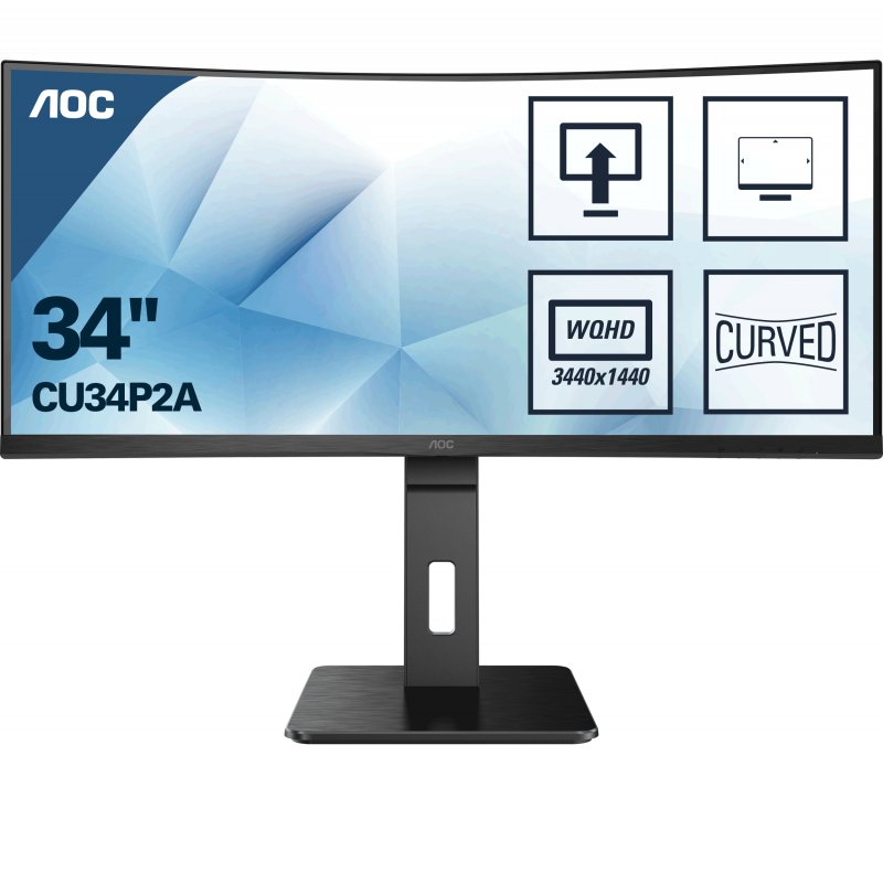 AOC CU34P2A 34'' Ultra Wide ukrivljen gaming monitor