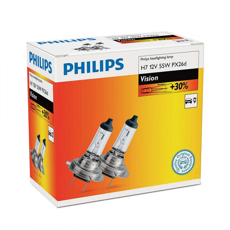 Philips avtomobilska žarnica Vision H7 12V 55W, 2 kos