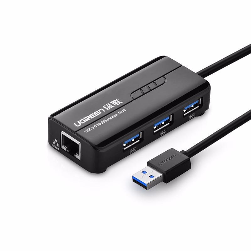 Ugreen USB 3.0 hub na 3x USB A in RJ45