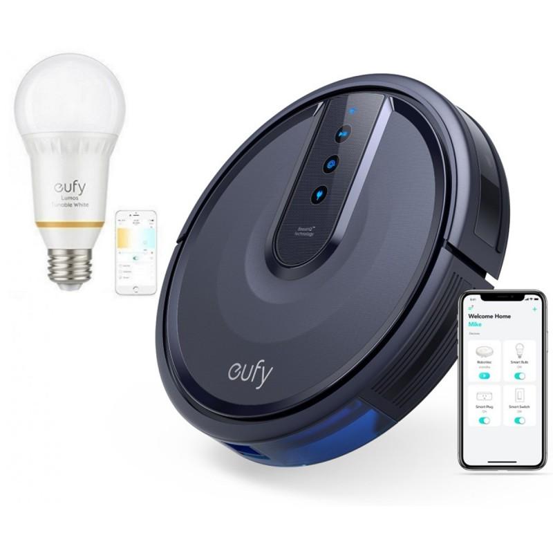 Anker RoboVac 25C Wifi robotski sesalnik črn + DARILO: Eufy pametna WiFi nastavljiva LED sijalka