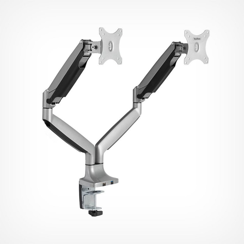 VonHaus dvojni namizni nosilec do diagonale 32'', 1 x USB3.0, plinska vzmet
