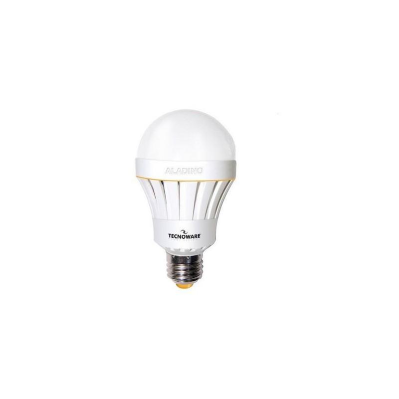 Tecnoware LED Aladino sijalka z baterijo, 10W E27 3000K toplo bela