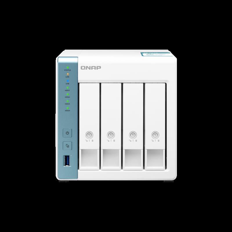 QNAP NAS strežnik za 4 diske, 1GB ram, 2x 1Gb mreža