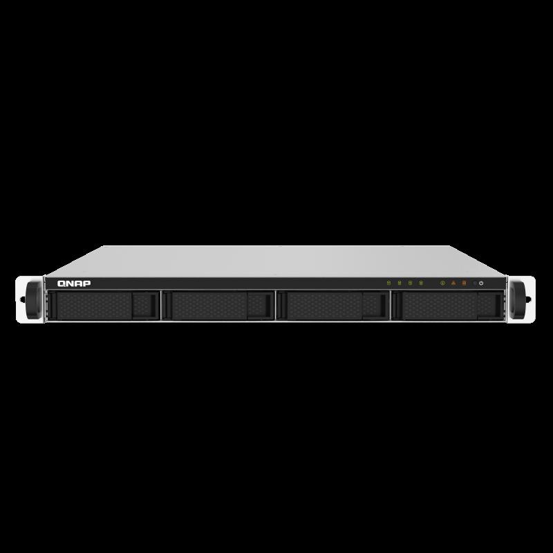 QNAP NAS strežnik 1U rack za 4 diske, 2GB ram, 2x 10Gb SFP+ mreža