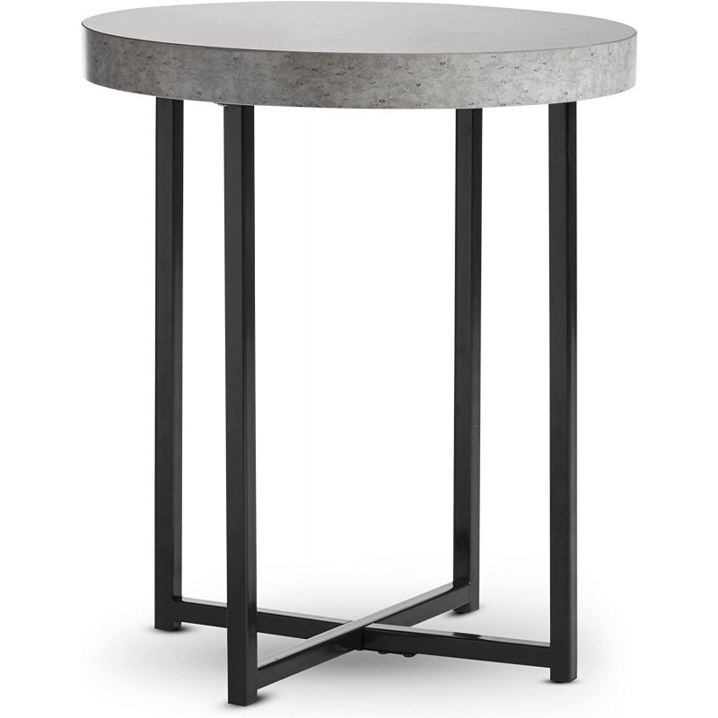VonHaus klubska mizica z imitacijo betona 48 x 48 x 56cm