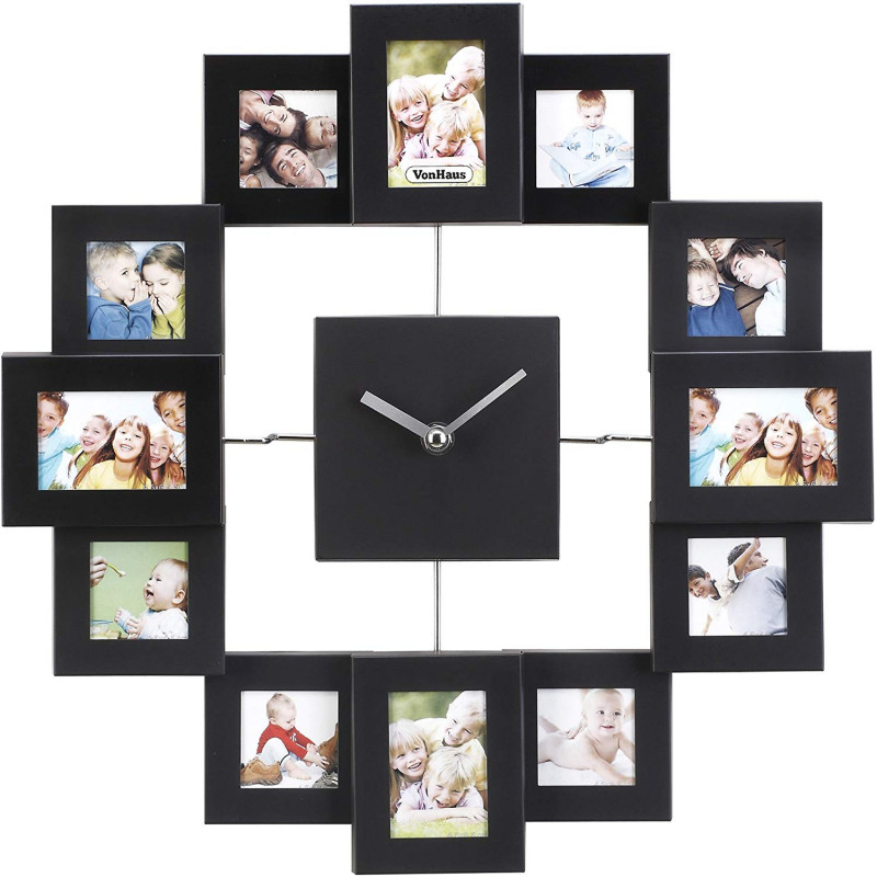 VonHaus stenka ura z okvirji za slike 4.5x4.5cm 4.5x6.5cm