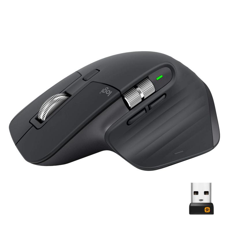 Logitech MX Master 3 miška, brezžična, unifying, darkfield, 4000 DPI, polnilna