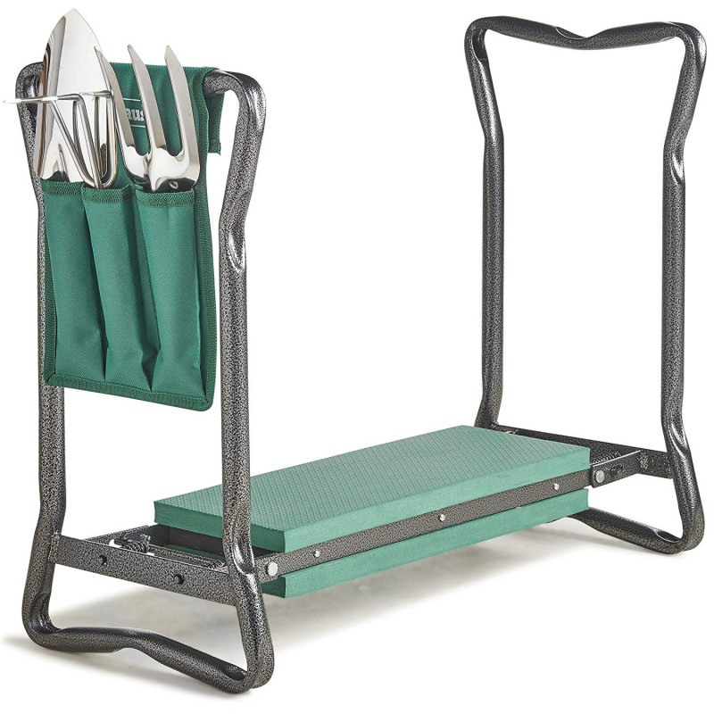 VonHaus 2v1 klečalnik in pručka za sedenje & set orodja