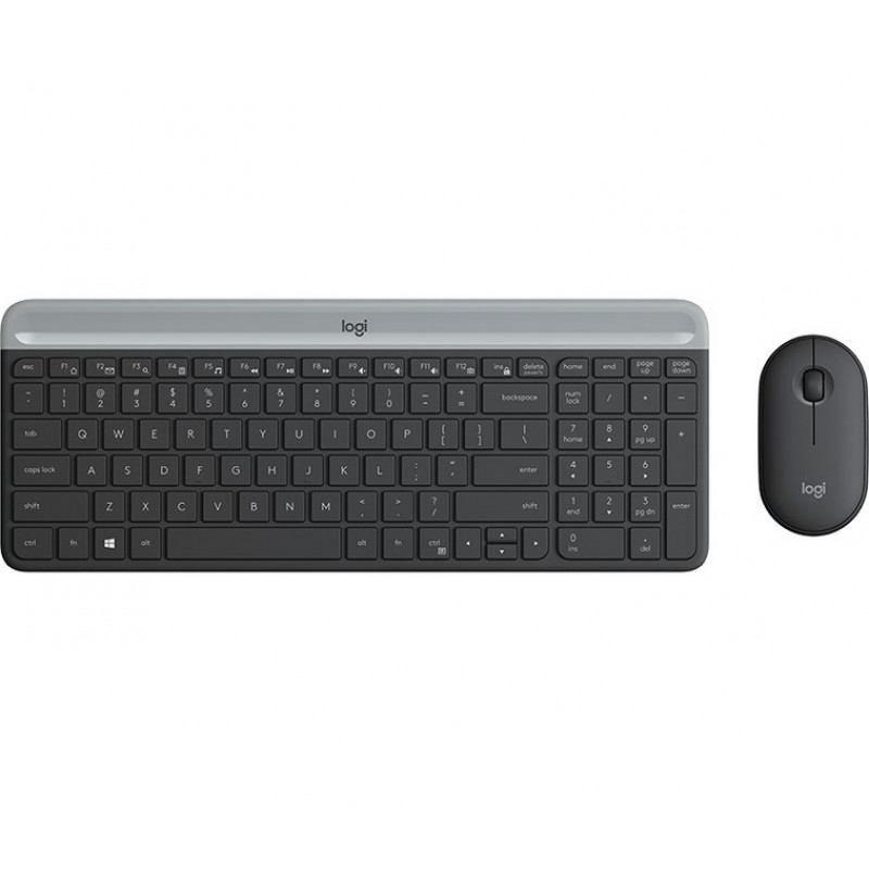 Logitech Slim Wireless Combo MK470, grafitna SLO