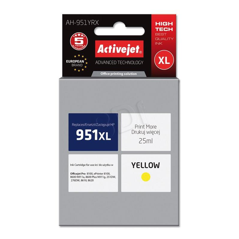 ActiveJet rumeno črnilo HP CN048AE 951XL