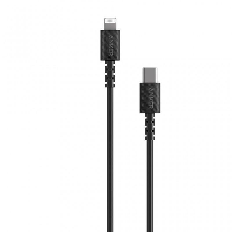 Anker PowerLine USB-C, Lightning kabel 0,9m črn