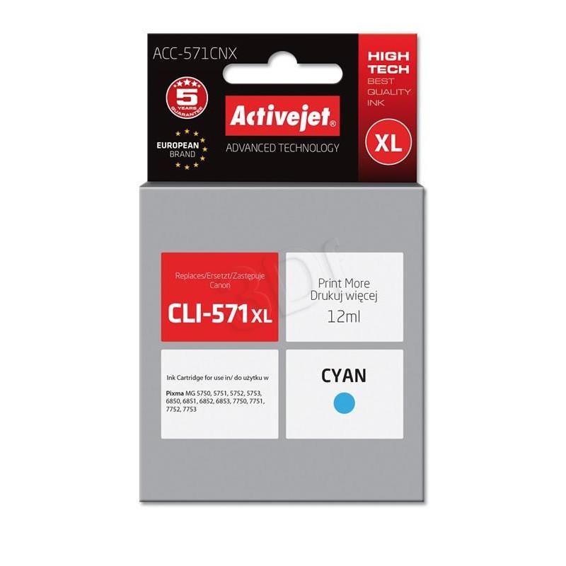ActiveJet cyan črnilo Canon CLI-571C XL