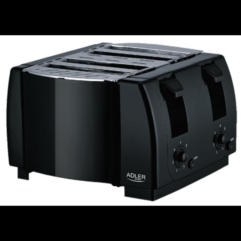 Adler dvojni toaster črn