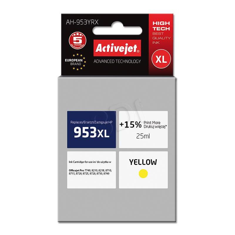 ActiveJet rumeno črnilo HP 953XL F6U18AE