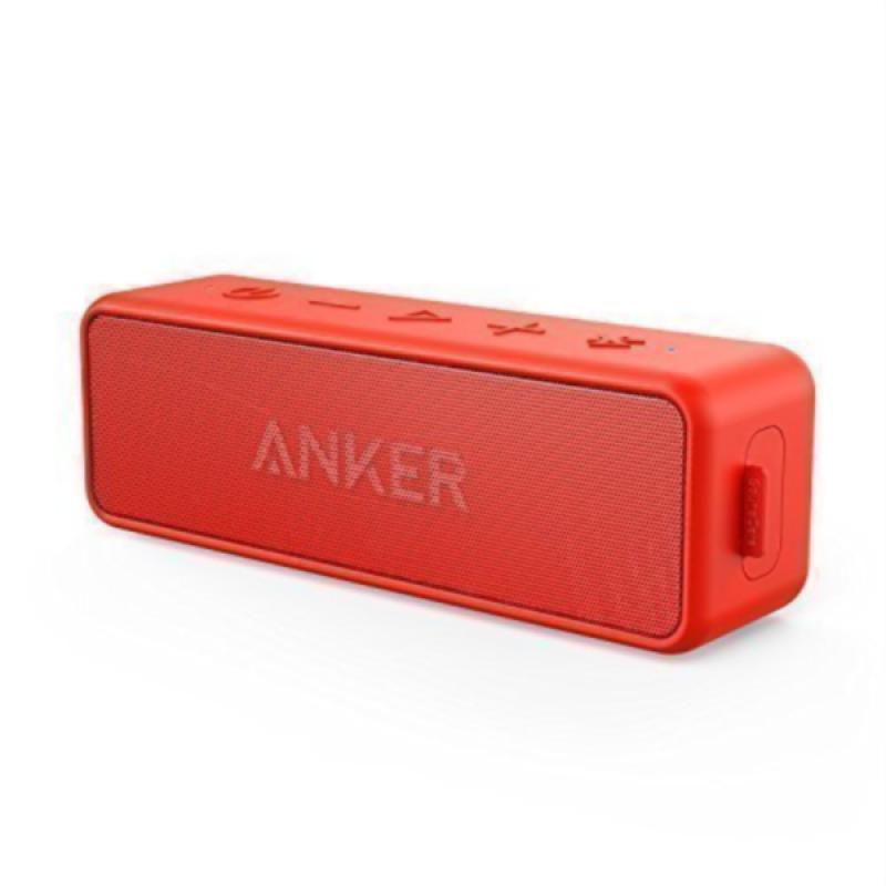 Anker SoundCore 2 Bluetooth 4.2 zvočnik črn 2x6W IPX5 vodoodporen rdeč