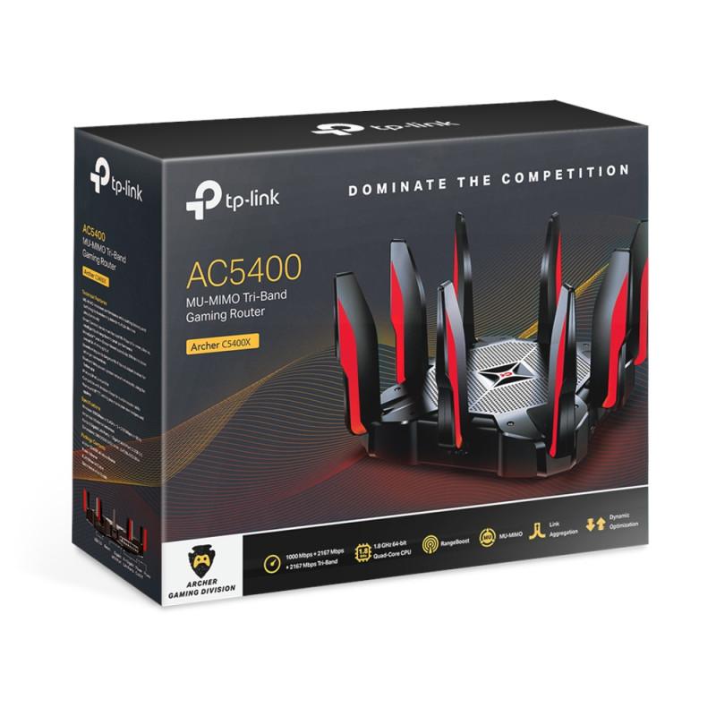 TP-Link mrežni  brezžični Tri-Band MU-MIMO gaming usmerjevalnik C5400X