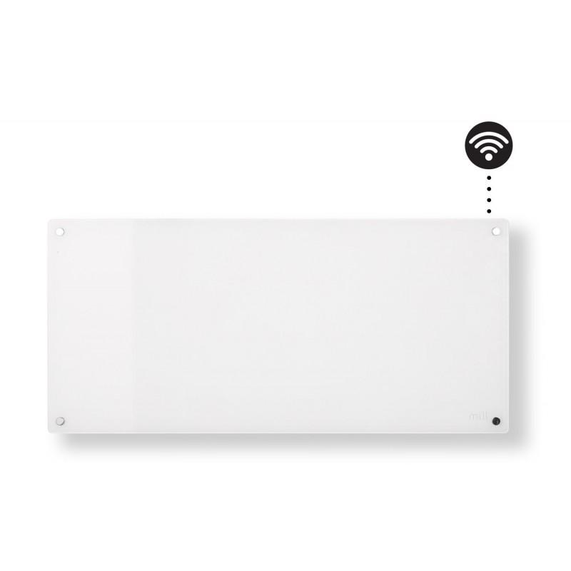 MILL panelni konvekcijski radiator Wi-Fi 900W bel jeklo AV900WIFI