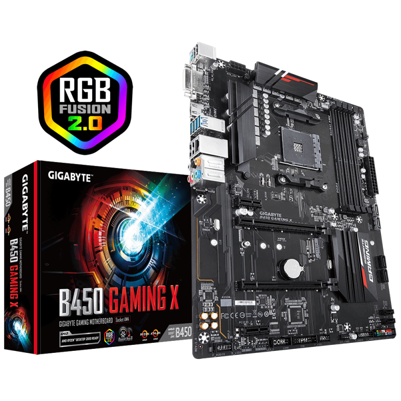 GIGABYTE B450 GAMING X, DDR4, SATA3, USB3.1Gen1, HDMI, AM4 ATX