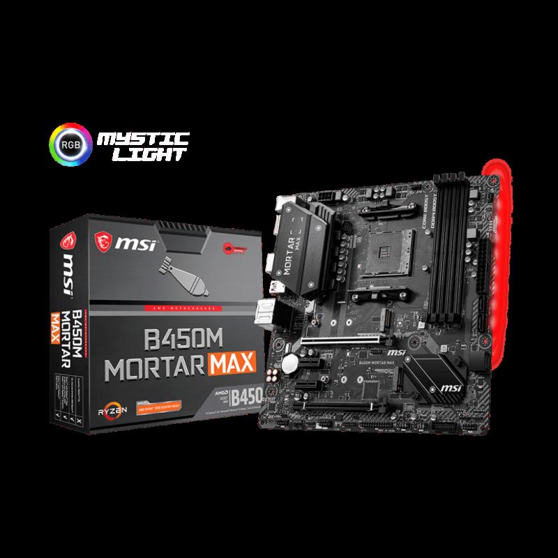 MSI B450M MORTAR MAX, DDR4, SATA3, USB3.2Gen2, DP, AM4 mATX