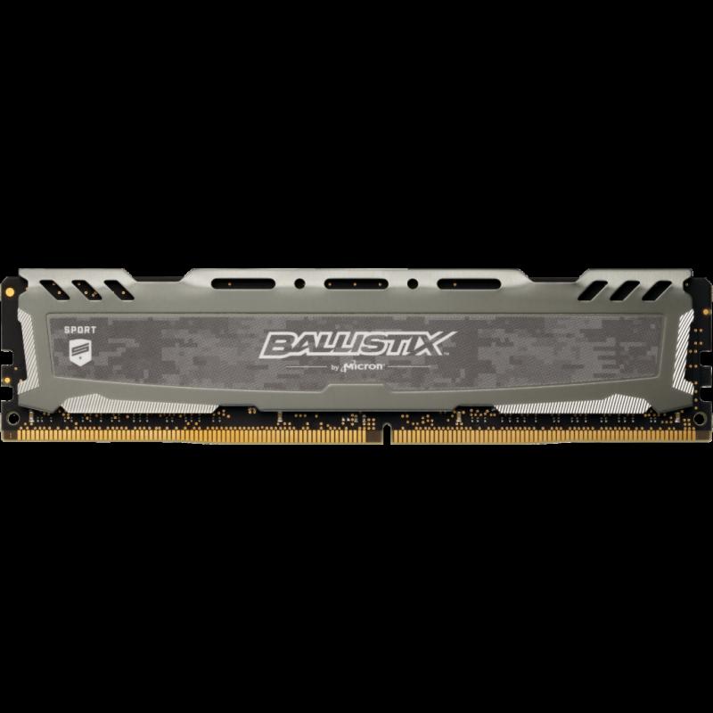 CRUCIAL Ballistix Sport LT Gray 16GB DDR4-3200 UDIMM 1.35V CL16