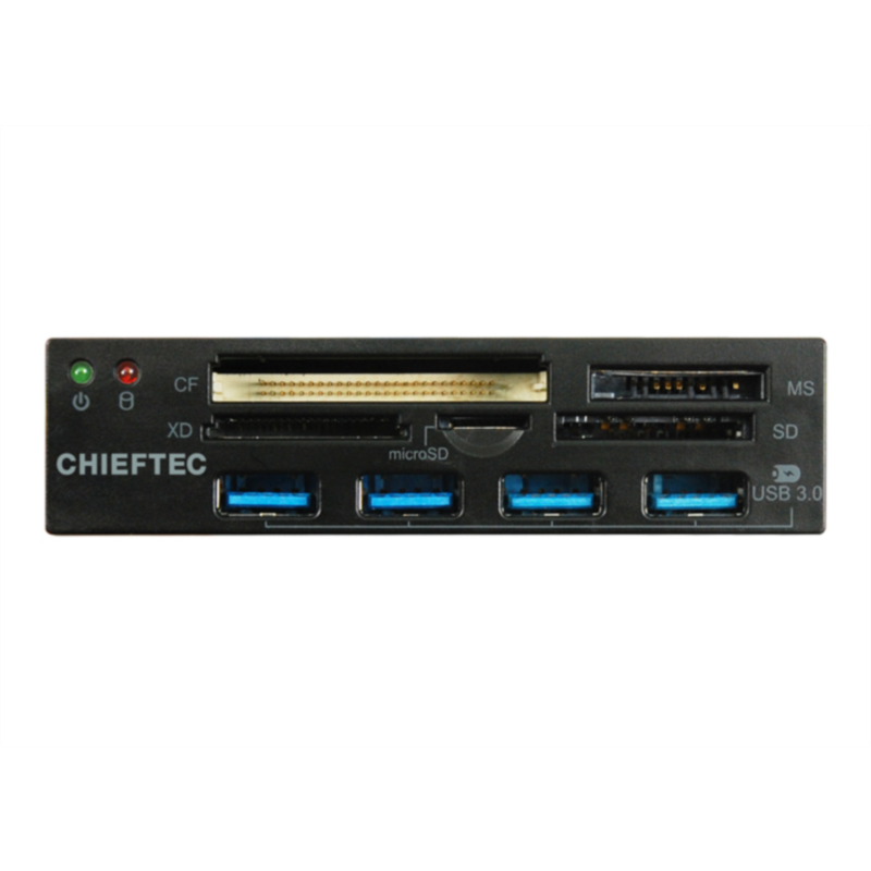 "Chieftec all-in-one čitalec kartic 4x USB 3.0 port 3,5"" panel"
