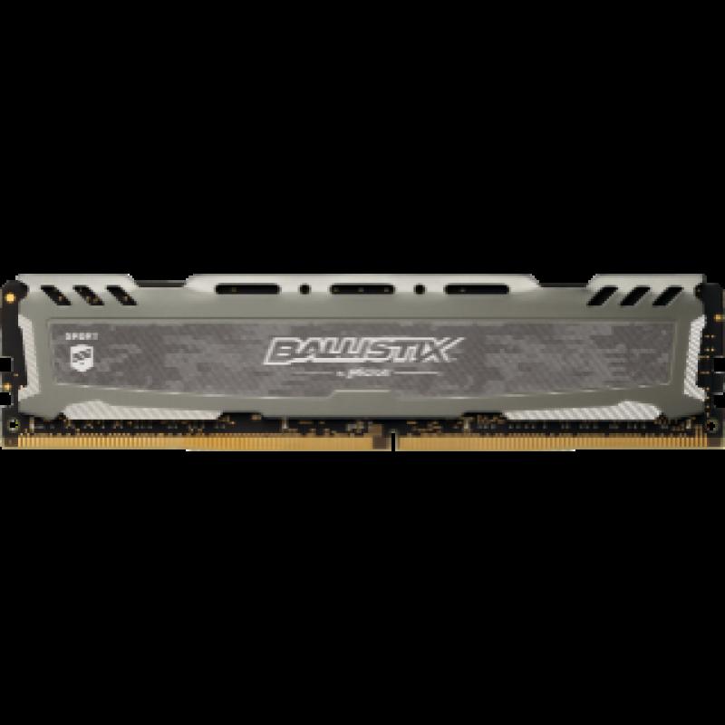 Crucial Ballistix Sport LT Gray 8GB DDR4-2666 UDIMM PC4-21300 CL16, 1.2V