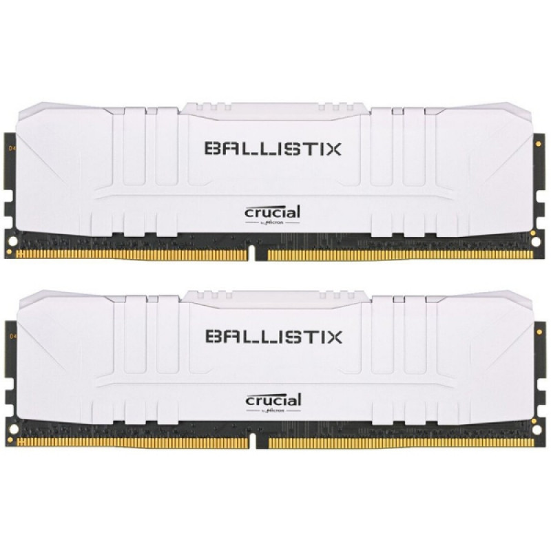 Crucial Ballistix White 16GB Kit (2x8GB) DDR4-3000 UDIMM PC4-24000 CL15, 1.35V