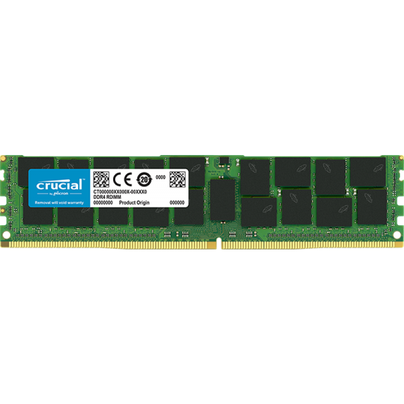 Crucial 16GB DDR4-2666 RDIMM PC4-21300 CL19, 1.2V ECC Registered