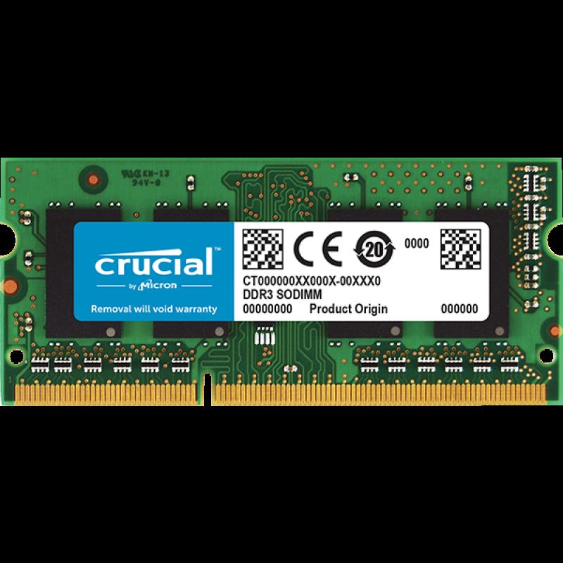 Crucial 16GB DDR3L-1600 SODIMM PC3-12800 CL11, 1.35V/1.5V