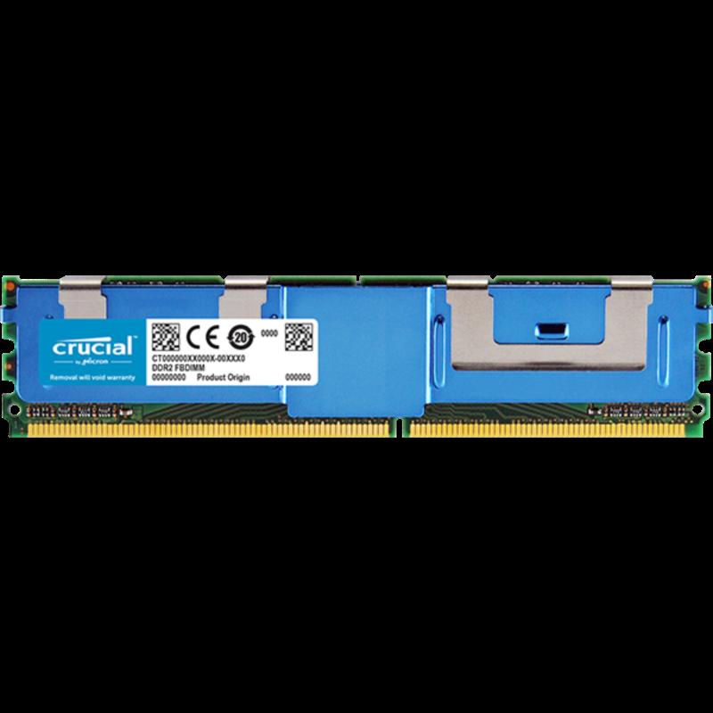 Crucial 4GB DDR2-667 FBDIMM PC2-5300 CL5, 1.8V ECC Registered Fully Buffered