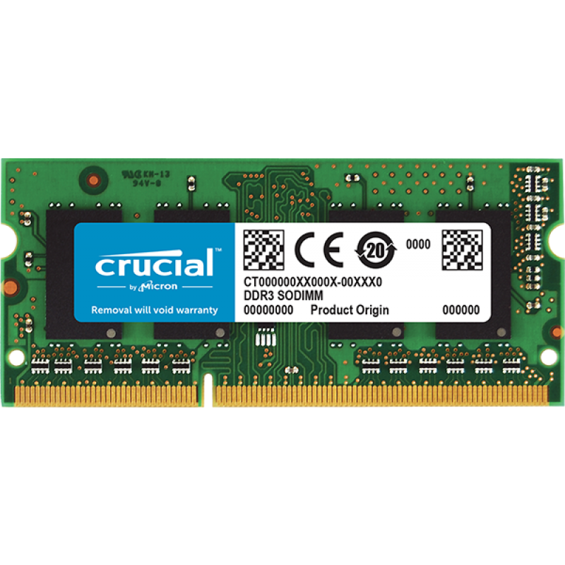 CRUCIAL 4GB DDR3L 1333 PC3-10600 CL9 SODIMM za prenosnike in Mac