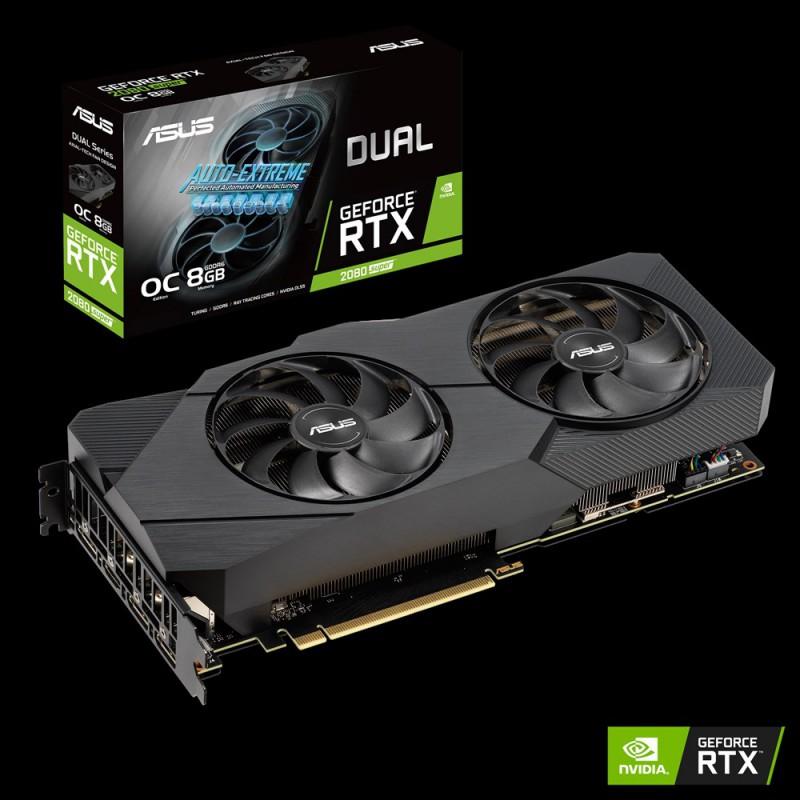 Grafična kartica ASUS GeForce RTX 2080 SUPER DUAL Evo OC, 8GB GDDR6, PCI-E 3.0