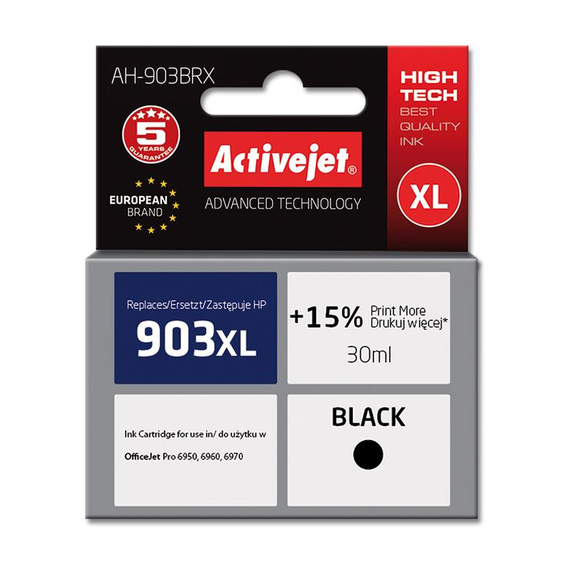 ActiveJet črno črnilo HP 903 XL T6M15AE