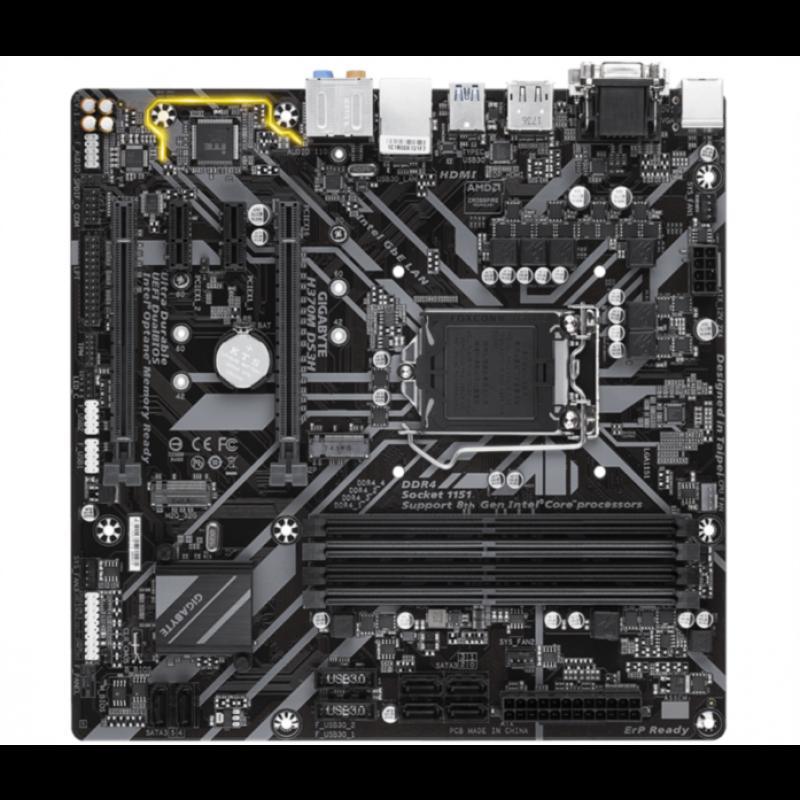 GIGABYTE H370M DS3H, DDR4, SATA3, USB3.1Gen1, HDMI, LGA1151 mATX
