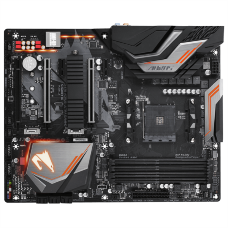 GIGABYTE X470 AORUS ULTRA GAMING, DDR4, SATA3, USB3.1Gen2, AM4 ATX
