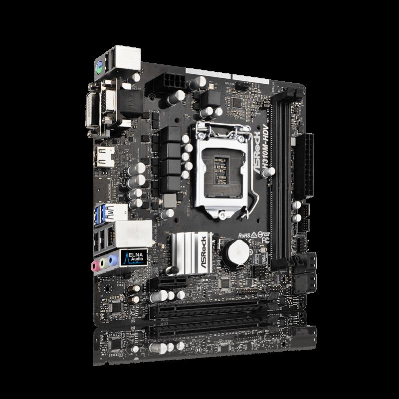 ASRock H310M-HDV, DDR4, SATA3, USB3.1Gen1, HDMI, LGA1151 mATX